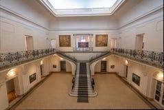 Palacio Ferreyra - Evita Fine Arts Museum Museo Superior de Bellas Artes Evita Interior - Córdova, Argentina imagem de stock