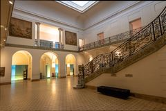 Palacio Ferreyra - Evita Fine Arts Museum Museo Superior de Bellas Artes Evita Interior - Córdova, Argentina imagens de stock royalty free