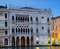 Palacio gótico Ca D'Oro en la hora azul Fotografía de archivo
