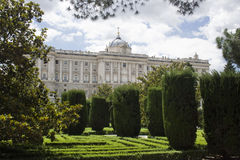 Palacio from garden Royalty Free Stock Image