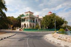 Palacio hermoso de Valle en Cienfuegos cerca del hotel de Jagua, Cuba fotos de archivo libres de regalías