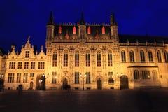 Palacio histórico en la Brujas, Bélgica Imagen de archivo libre de regalías