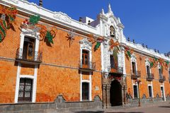 Palacio I, Tlaxcala del gobierno Fotos de archivo