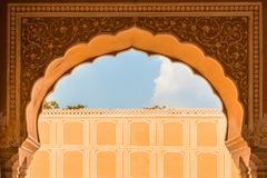 Palacio interior de la ciudad de Jaipur foto de archivo libre de regalías