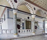 Palacio interior de Topkapi del vestíbulo fotos de archivo libres de regalías