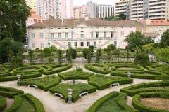 Palacio Laranjeiras i Lissabon, Portugal Royaltyfri Fotografi