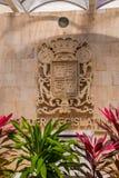 Palacio Legislativo La costruzione dell'assemblea legislativa in Campeche, interna con la stemma San Francisco de Campeche, Immagine Stock