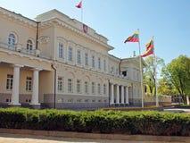 Palacio lituano del presidente en Vilnius Fotos de archivo