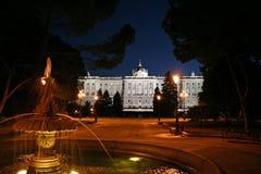 Palacio madrid real imagem de stock