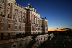 Palacio Madrid reale Immagine Stock