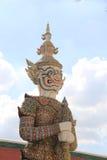 Palacio magnífico Bangkok del guarda del demonio Fotos de archivo