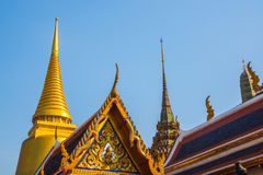 Palacio magnífico Bangkok Stupa de oro y templos religiosos THAILLAND Foto de archivo