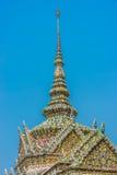 Palacio magnífico Bangkok Tailandia del detalle del tejado de Chedi Fotografía de archivo