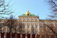 Palacio magnífico de Kremlin Foto de archivo