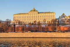 Palacio magnífico de Kremlin Imagen de archivo libre de regalías