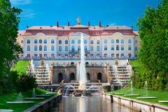 Palacio magnífico de Petergof fotos de archivo libres de regalías