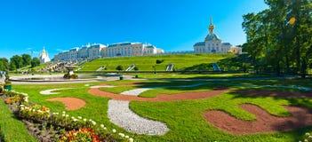 Palacio magnífico de Peterhof Imagen de archivo