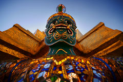 Palacio magnífico de Wat Phra Kaeo imagen de archivo libre de regalías