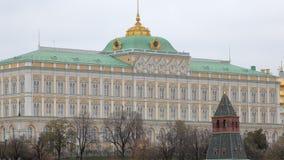 Palacio magnífico del Kremlin en Moscú, arquitectura tradicional metrajes