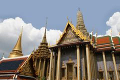 Palacio magnífico - Tailandia Imágenes de archivo libres de regalías