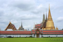 Palacio magnífico, Wat Prakaew, explosión Kok foto de archivo libre de regalías