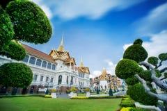 Palacio magnífico real en Bangkok. Foto de archivo