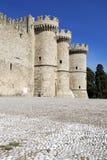 Palacio medieval del gran maestro de los caballeros Fotos de archivo