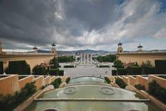 Palacio nacional de Barcelona Imagen de archivo