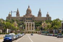 Palacio nacional de Barcelona Foto de archivo