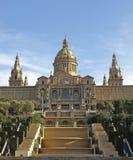 Palacio nacional de Cataluña Fotos de archivo