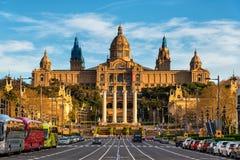 Palacio nacional del museo de arte de Montjuic en Barcelona, Cataluña, España Fotografía de archivo libre de regalías