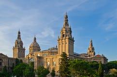 Palacio nacional en Barcelona Imagen de archivo