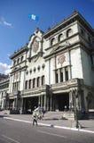 Palacio nacional en ciudad de Guatemala Imágenes de archivo libres de regalías