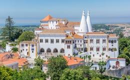 Palacio nacional en Sintra, distrito de Lisboa, Portugal fotografía de archivo libre de regalías