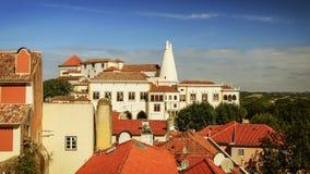 Palacio nacional en Sintra, Portugal Imagen de archivo libre de regalías