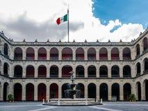 Palacio Nacional National Palace Fountain - Mexico City, Mexico Royalty Free Stock Photos