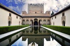 Palacio Nazaries, Alhambra, Granada fotos de archivo