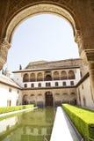 Palacio Nazaries - Alhambra imagens de stock royalty free