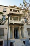 Palacio neoclásico en el distrito de Plaka imágenes de archivo libres de regalías