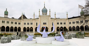 Palacio oriental en los jardines de Tivoli, Copenhague Imagenes de archivo