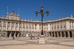 palacio (palace) real in Madrid Stock Photos