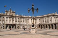 palacio (Palast) real in Madrid Stockfotos