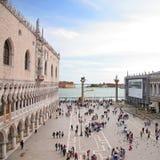 Palacio Palazzo Ducale del ` s del dux en Venecia, Italia Imágenes de archivo libres de regalías