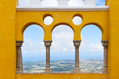 Palacio Pena, Sintra, Portogallo Fotografie Stock