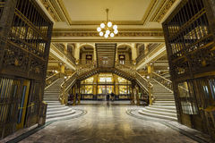 Palacio Postal. Mexico City, FEB 19: The inner view of the historical and beautiful Palacio Postal on FEB 19, 2017 at Mexico City stock images