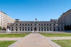 Palacio presidencial Chile, La Moneda Foto de archivo