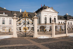 Palacio presidencial del grassalkovich Foto de archivo libre de regalías