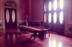 Palacio presidencial durante renovaciones, EL Imagen de archivo