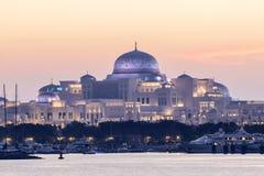 Palacio presidencial en Abu Dhabi fotografía de archivo libre de regalías