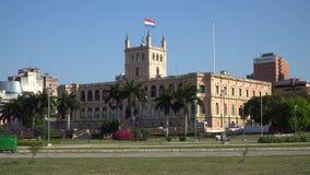 Palacio presidencial en Asuncion, Paraguay almacen de video